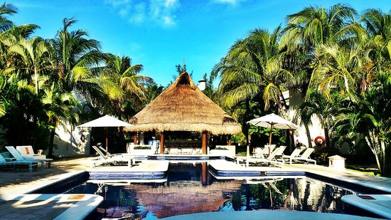 Laguna Suites Golf & Spa : Pool,kitichen and Bar area