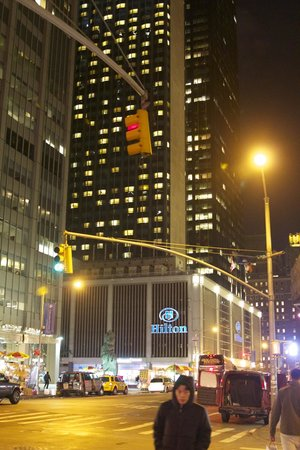 Hotel At Night Picture Of The Hilton Club New York