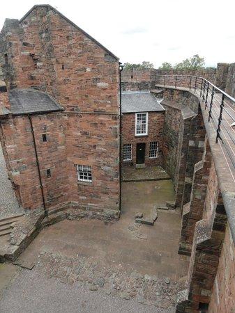 Carlisle Castle: Older portion of the castle inner court yard.