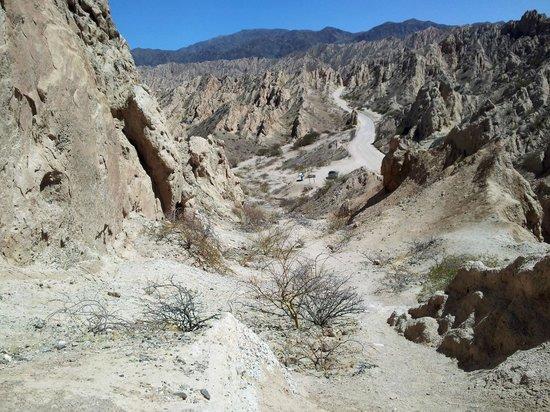Quebrada de Las Flechas - Angastaco: Es lo que veia desde la cima
