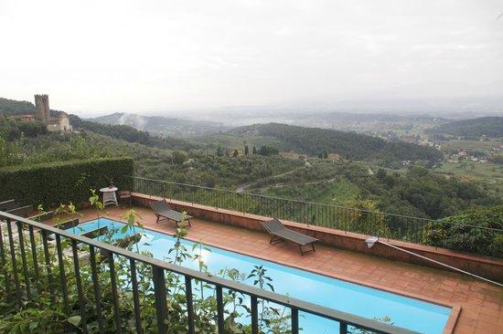 Relais La Cappella: view from terrace