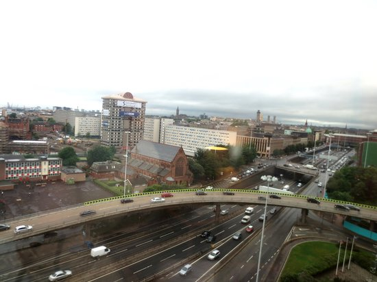 View looking NW from Hilton Glasgow