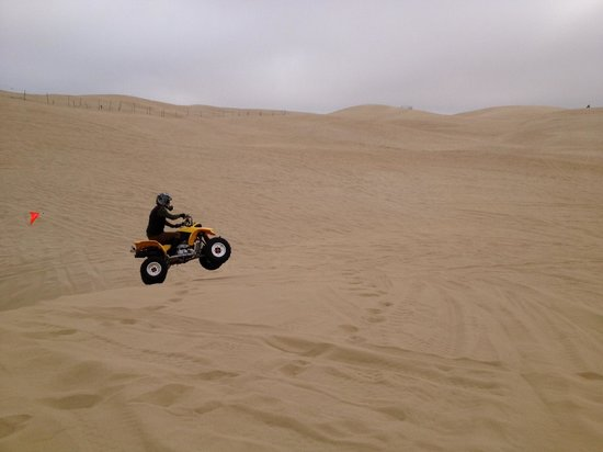 Sun Buggy & ATV Fun Rentals - Pismo Beach : Me getting a wee bit of air over a dune