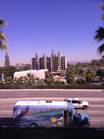 Howard Johnson Anaheim Hotel and Water Playground: Looking back at Hojos from Disneyland Monorail