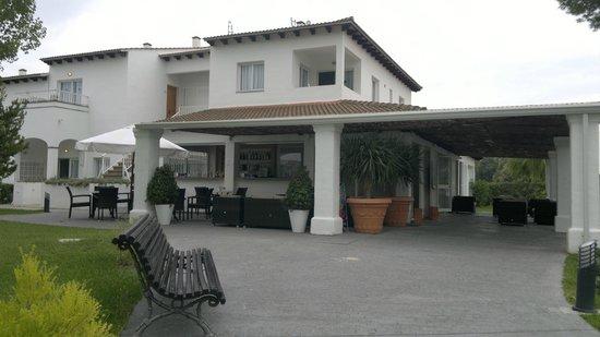 Seaclub Mediterranean Resort: Receptionen vid Serenity (2013-09-28 strax före hemresa)