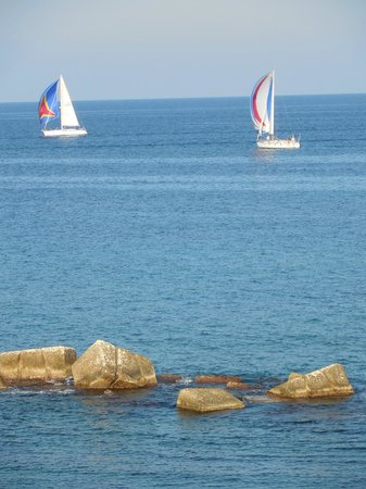 Algila Ortigia Charme Hotel: View of water and boats from sea view room