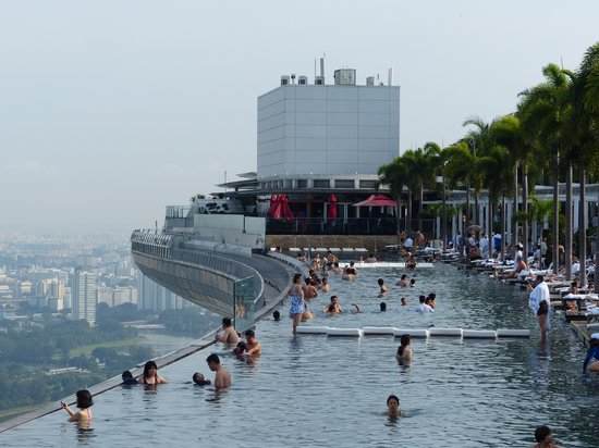 Marina bay sands infinity pool singapore - Infinity Pool At Marina Bay Sands Picture Of Marina Bay