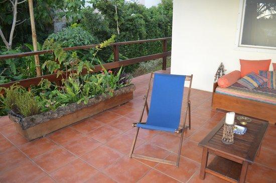La Maison Bleue : terrace