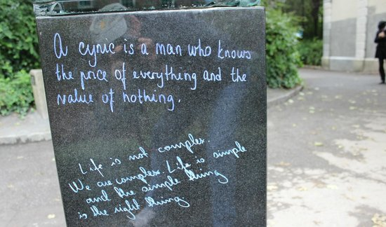 Merrion Square: Oscar Wilde sayings