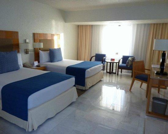 Park Royal Cancun: Apto duplo tem duas camas de casal