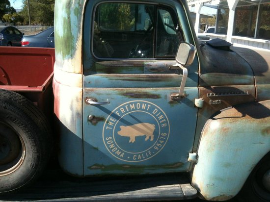 The Fremont Diner: The Company Truck, parked out front!