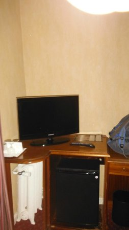 Hotel Concortel: TV and fridge