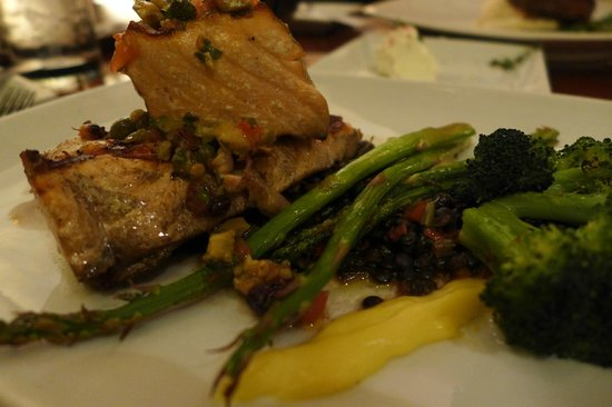 Hollywood Brown Derby: Grilled Loch Duart Salmon