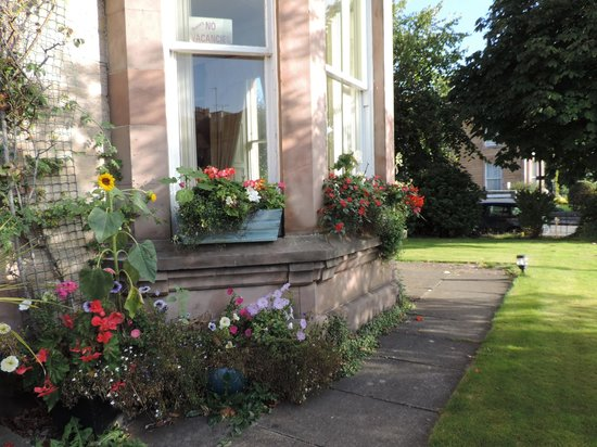 Ard-na-said: Flower boxes on bay window outside dining room