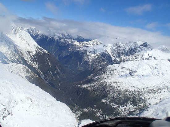 Glacier Southern Lakes Helicopters: From the helicopter