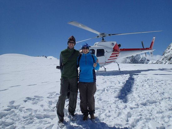 Glacier Southern Lakes Helicopters: us with the heli