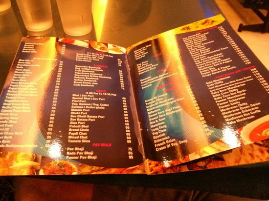 Menu card picture of shiv sagar restaurant mumbai for Arman bengal cuisine dinas menu