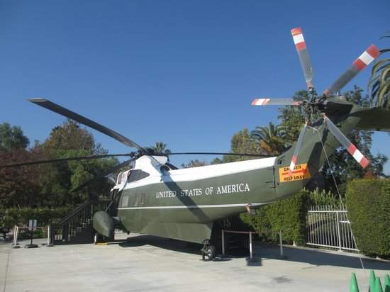 Richard Nixon Presidential Library and Museum : Helicopter that took Nixon from White House after Resignation