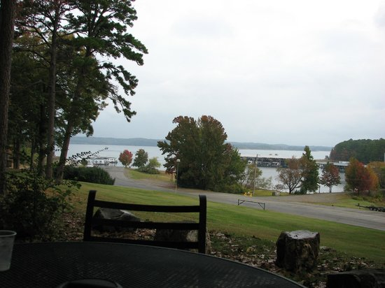 Mountain Harbor Resort & Spa: View of Lake Ouachita From Our Private Patio