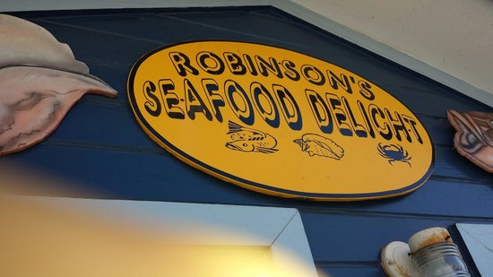 Robinson's Seafood Delight: In front of Robinsons.