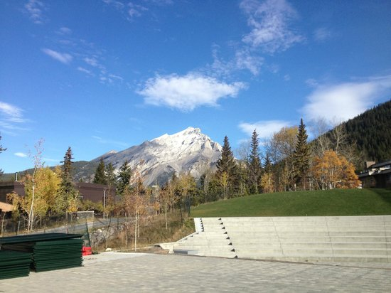 The Banff Centre for Arts and Creativity: A view near the outdoor amphitheater