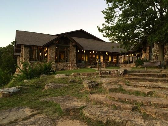 Mather Lodge Restaurant at sunset
