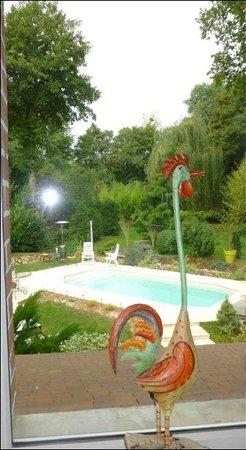 Le Moulin Page : vue piscine