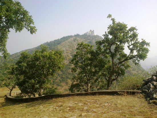 Sajjangarh Wildlife Sanctuary: Sajjangarh ( Monsoon ) Palace  from  hike trail
