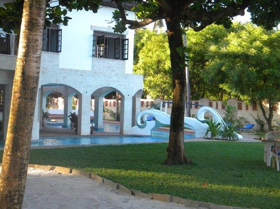 The Maji Beach Boutique Hotel: the beachfront garden and pool