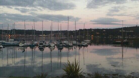 Waypoint Grill: View from the restaurant in the evening