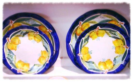 ceramica di vietri: decoro limoni - Foto di Il Cerchio dei Golosi ...