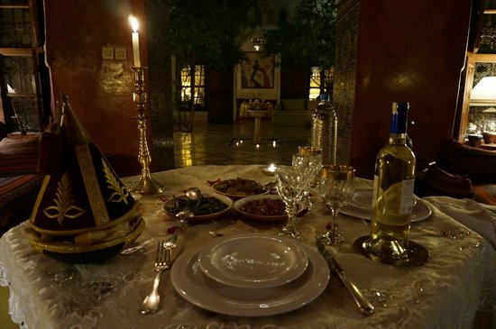 Riad Samsara: dinner in the Riad