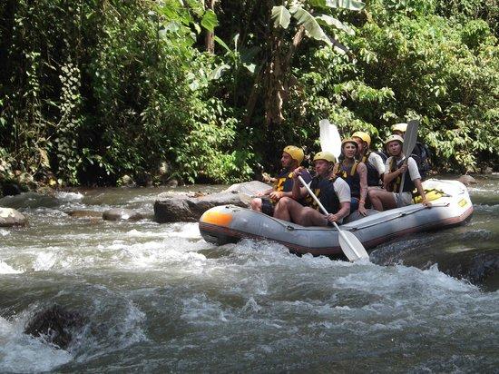 Graha Adventure White Water Rafting Ubud Bali: Here comes the raft