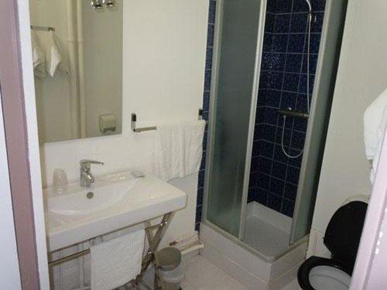 Hotel Richaud: Vue de la salle de bain - Chambre n°8