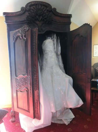 The Majestic Hotel: My wedding dress in our room