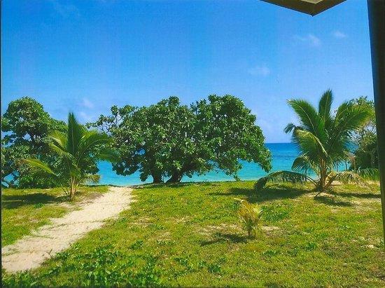 Sandy Beach Resort: Blick vom Fale