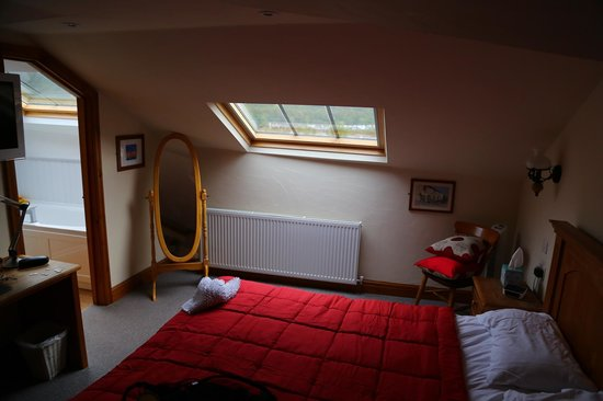 Gwaelod y Garth Inn : Double Room with great bathroom