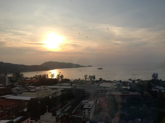 The Royal Paradise Hotel & Spa: View from glass elevator