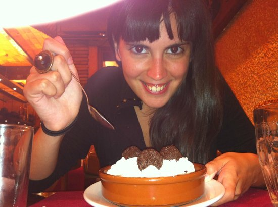 La Oca: De postre trufas con nata