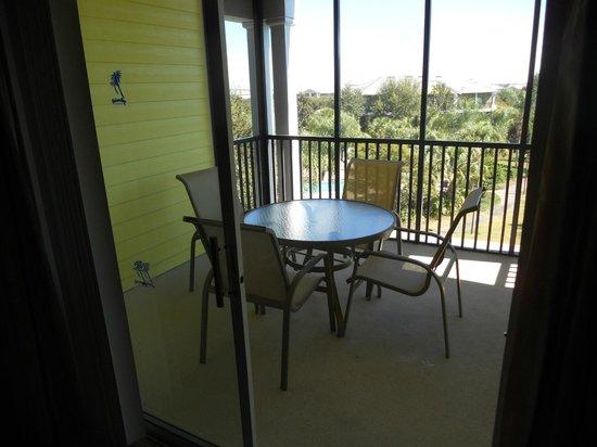 Bahama Bay Resort Orlando by Wyndham Vacation Rentals: Balcony Where we watched Disney Fireworks every night!