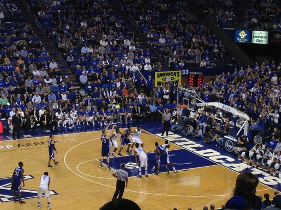 Rupp Arena: Taken from Sect 15 last row