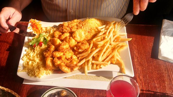Portugal Express: Seafood Platter with Flounder, Scallops and Shrimp