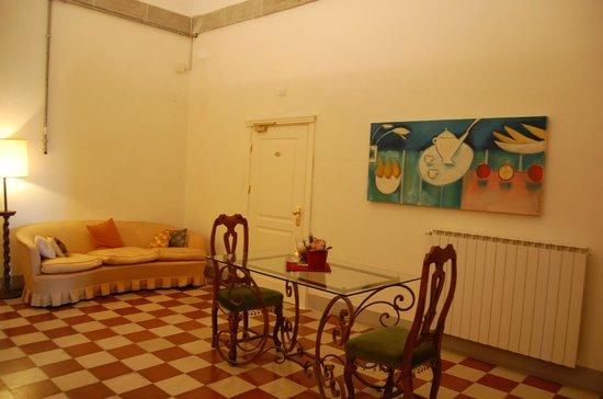 Il Chiostro del Carmine: view of the door to my room