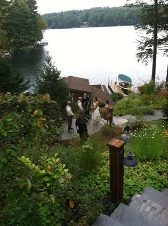 The Fern Lodge: We do many small weddings and elopements in the garden!