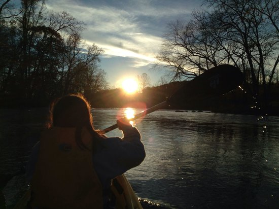 Hiwassee River Cabins : Kayaking for first time