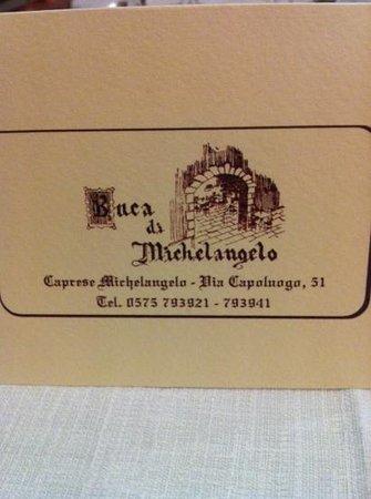 Buca di Michelangelo: biglietto da visita