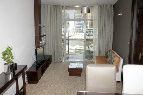 Lotus Hotel Apartments & Spa, Dubai Marina: livingroom