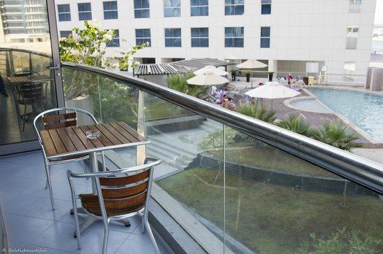 Lotus Hotel Apartments & Spa, Dubai Marina: view from the balcony