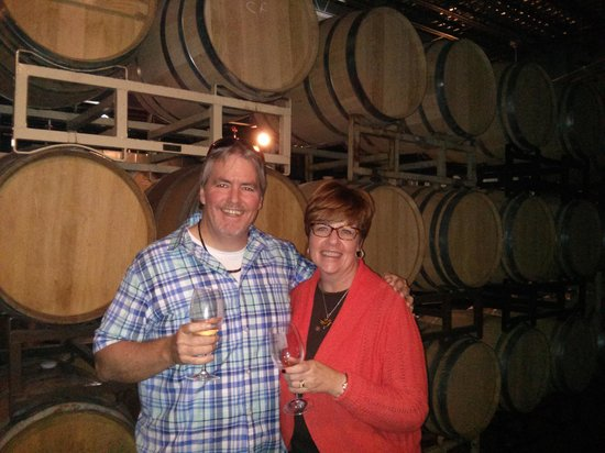 Grapeline Wine Tours : Barrel Room