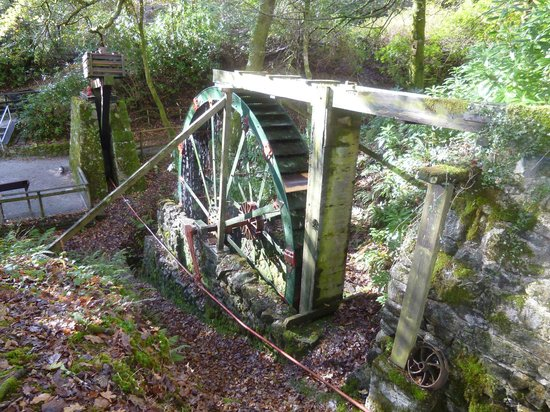 One of the waterwheels at Wheal Martyn